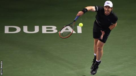 Andy Murray: world No. 1 has chance at title in Dubai Championships