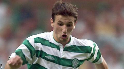 Liam Miller in action for Celtic in 2003