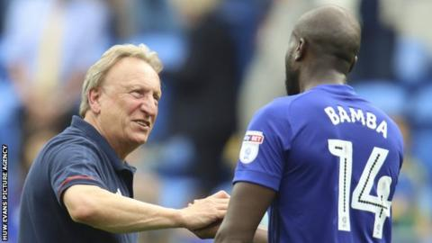 Neil Warnock with Sol Bamba