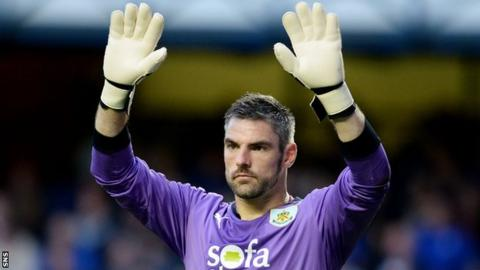 Matt Gilks in action for Burnley against Ragners last summer