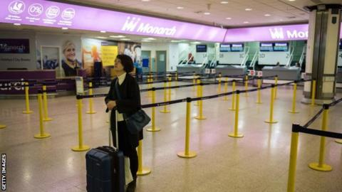 About 80000 Monarch Airlines customers returned to UK