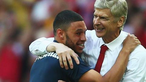 Alex Oxlade-Chamberlain and Arsene Wenger