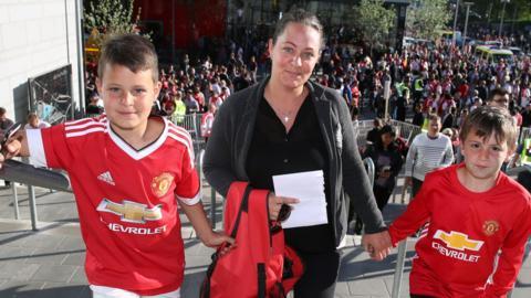 Manchester United fan in Stockholm