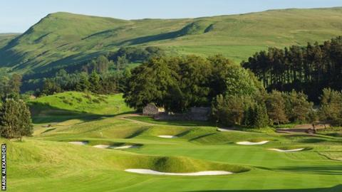 The second hole at the PGA Centenary Course at Gleneagles