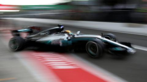 Hamilton dominates first practice at Monza