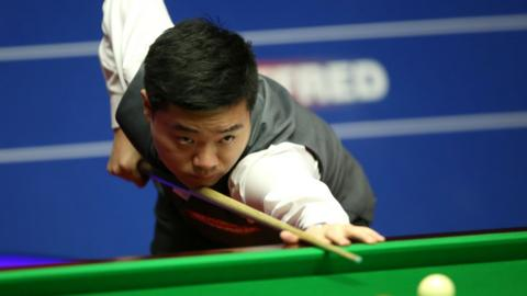 Ding Junhui in action at the Crucible