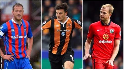 Inverness Caledonian Thistle defender Gary Warren, Hull City defender Harry Maguire and Blackburn striker Jordan Rhodes in action for their respective clubs