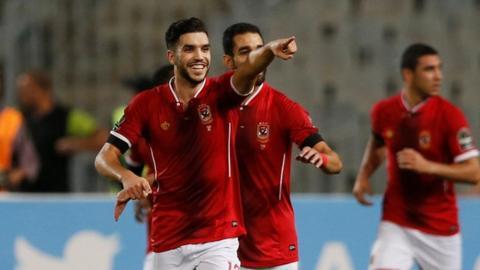 Walid Azarou scored a hat-trick as Al Ahly thumped Etoile du Sahel in Alexandria