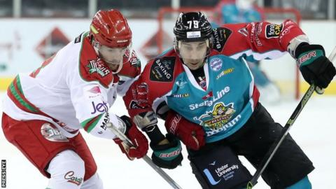 James Desmarais scored the Giants' fifth goal against Cardiff on Sunday