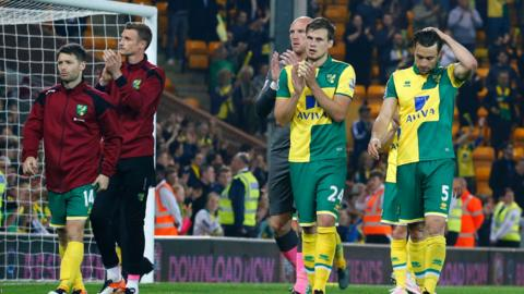 Norwich were relegated on Wednesday despite winning their final home game.