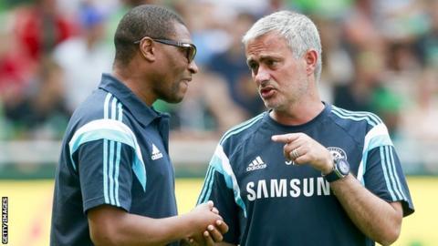 Michael Emenalo and Jose Mourinho