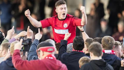 Brechin City celebrate promotion