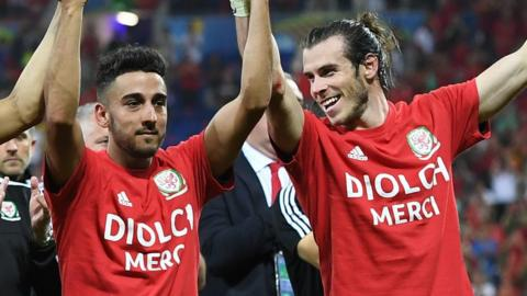 Gareth Bale and Neil Taylor