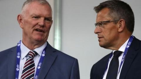 FA chairman Greg Clarke and chief executive Martin Glenn