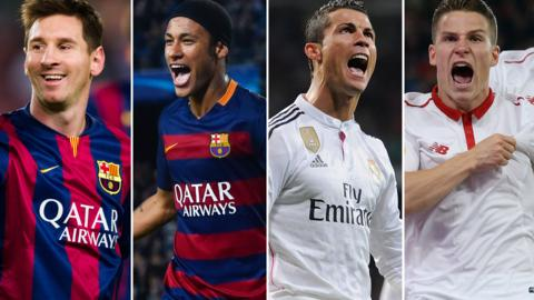 Lionel Messi, Neymar, Cristiano Ronaldo & Kevin Gameiro
