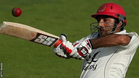 Asghar Stanikzai needed 160 balls to compile his unbeaten 110 in the first innings