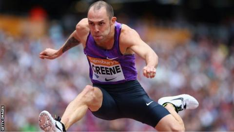 Dai Greene in action at the Anniversary Games