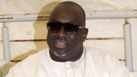 Papa Massata Diack in Dakar on February 8, 2015