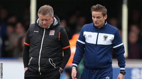 Chris Wilder and Neal Ardley