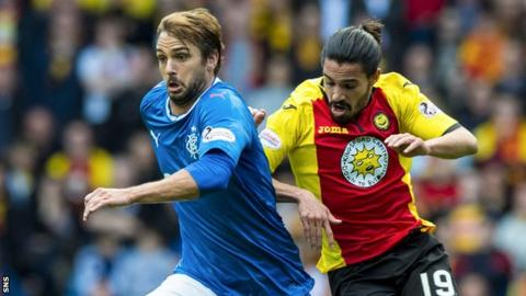 Niko Kranjcar playing against Partick Thistle