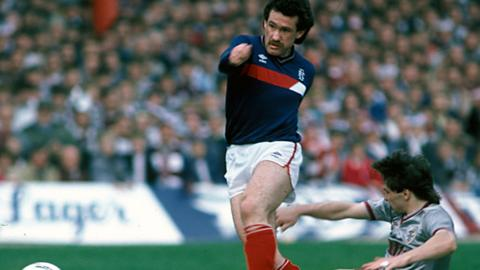 Albert Kidd came off the bench to score twice against Hearts 30 years ago