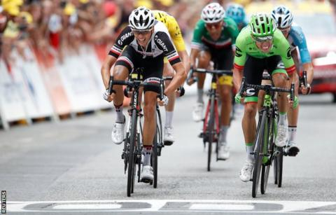 Uran wins stage nine of Tour as Porte and Thomas crash out