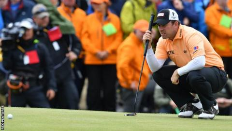 Richie Ramsay during his second round at Royal Birkdale