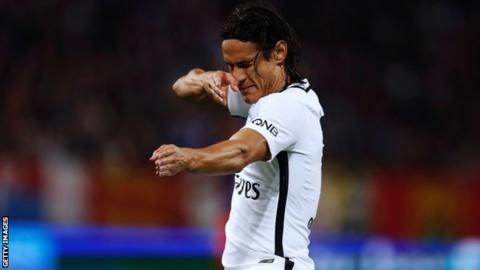 Cavani Nets Four As PSG Thrash Caen