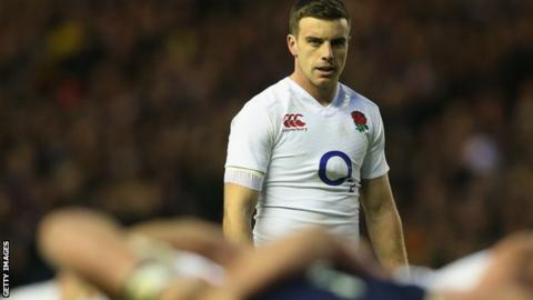 England number 10 George Ford