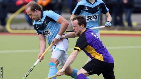 James Lorimer of Lisnagarvey in action against David Quinn of Pembroke Wanderers