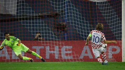 Luka Modric scored Croatia's first from the penalty spot