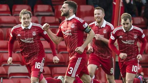 Graeme Shinnie scored a cracking first-half goal to send Aberdeen ahead