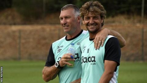 Inigo Idiakez (right) and Nigel Pearson