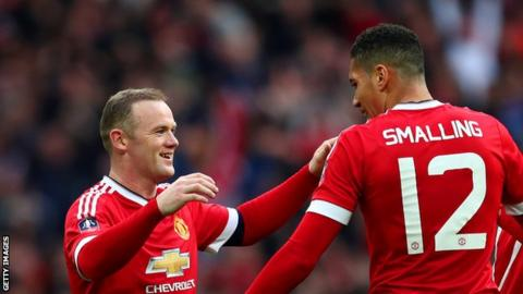 Wayne Rooney and Chris Smalling