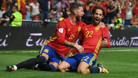 Isco and Sergio Ramos