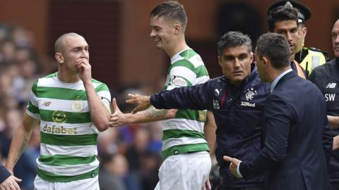Rangers manager Pedro Caixinha and Celtic captain Scott Brown
