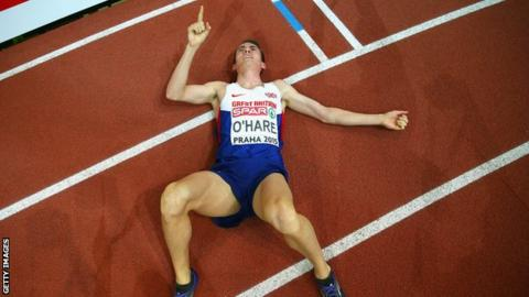 Chris O'Hare has a European Indoor medal from last year