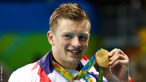 GB swimmer Adam Peaty
