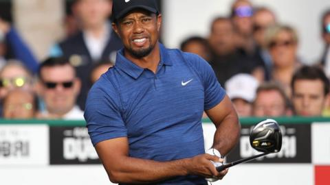 Tiger Woods playing in early 2017