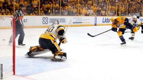 Predators top Penguins to tie Stanley Cup Final