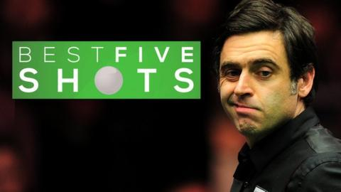 Ronnie O'Sullivan at the 2016 Masters