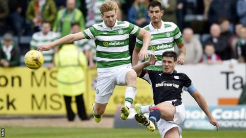 Celtic and Dundee players