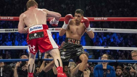 Amir Khan was knocked out by Saul 'Canelo' Alvarez