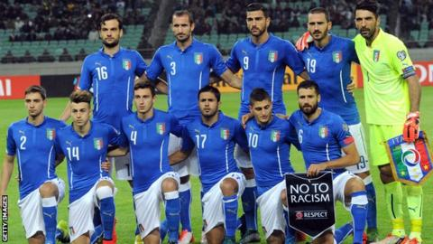 Italy topped their group in Euro 2016 qualifying