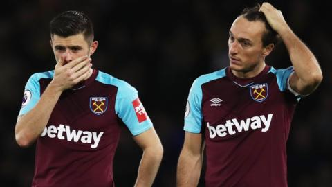 West Ham's Aaron Creswell and Mark Noble