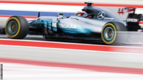 Lewis Hamilton during practice for the United States Grand Prix