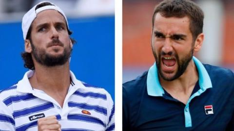 Feliciano Lopez and Marin Cilic in Queen's final