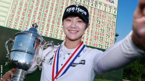 Sung Hyun Park first LPGA Tour rookie to reach No