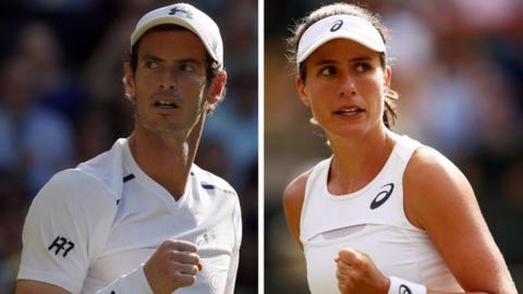 Andy Murray and Johanna Konta
