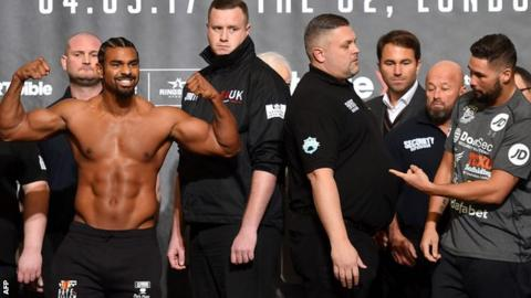 Haye: I'll do much damage to Bellew with my gloves